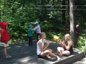 a scene from one of the plays created by the campers.